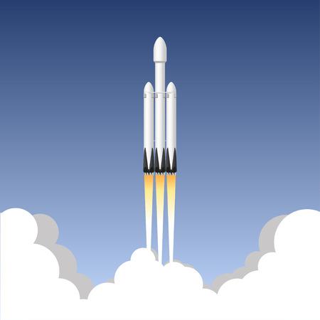 USA rocket carrier. Icon vector illustration.