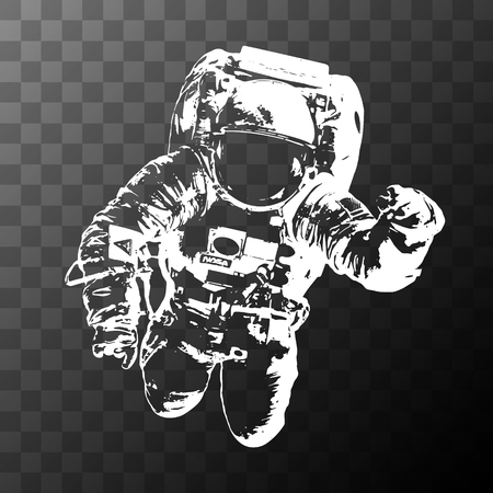 A Astronaut on transparent background - Elements of this Image Furnished by NASA Vettoriali