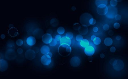 Abstract blue circular bokeh background vector illustration