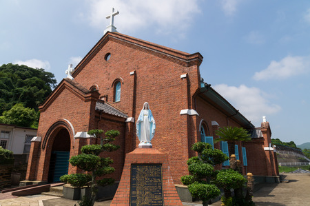 일본 나가사키 구로 사키 교회