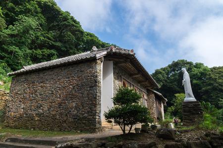 오노 교회, 나가사키 일본 스톡 콘텐츠