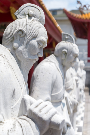 confucian: 72 followers statues of Confucian Temple in Nagasaki, Japan