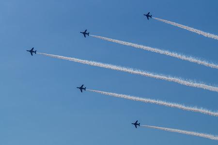 impulse: Demonstration Fl�ge von Blue Impulse Acrobat-Team Editorial