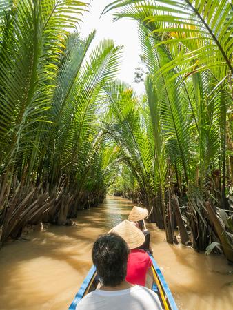 mekong: Mekong River in My Tho, Vietnam Stock Photo
