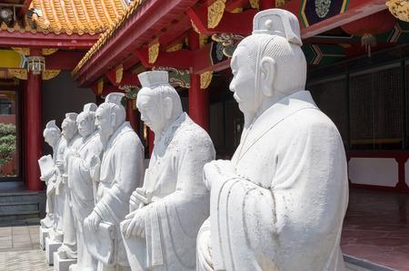 followers: 72 followers statues of Confucian Temple in Nagasaki, Japan