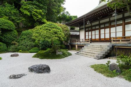 kamakura: Japanese garden in Kamakura, Japan