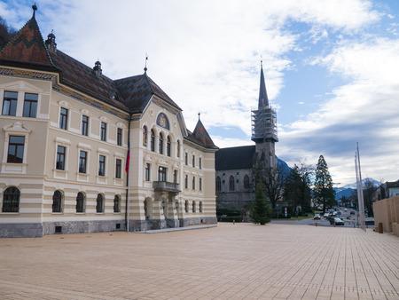 liechtenstein: Cityscape of Vaduz in Liechtenstein