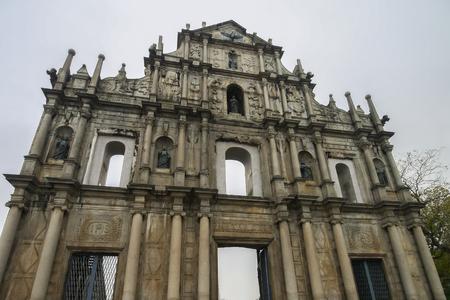 Ruins of St. Pauls in Macau, China Stock Photo