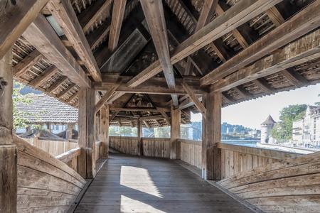 chaff: Chaff Bridge, oldest wooden bridge of Switzerland Luzern