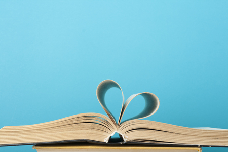 heart from book page Stock Photo