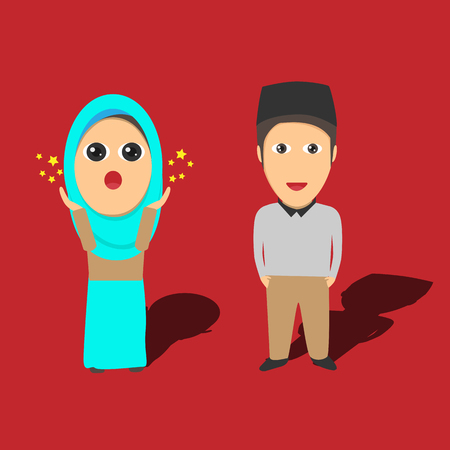 vector muslim character illustration