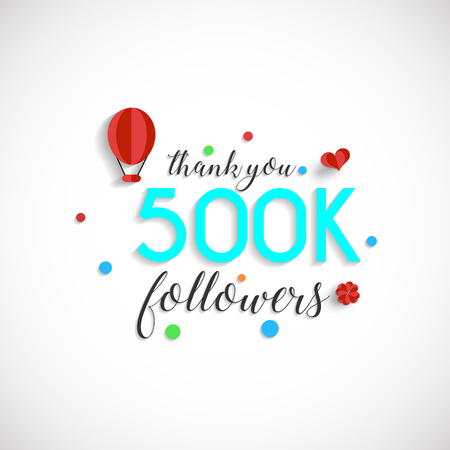 500 thousand followers illustration for Web user