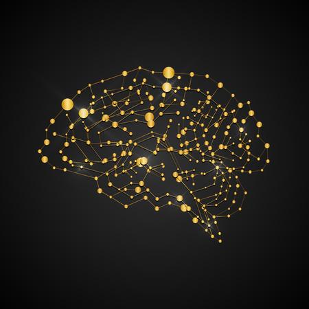Vector illustration of human brain.
