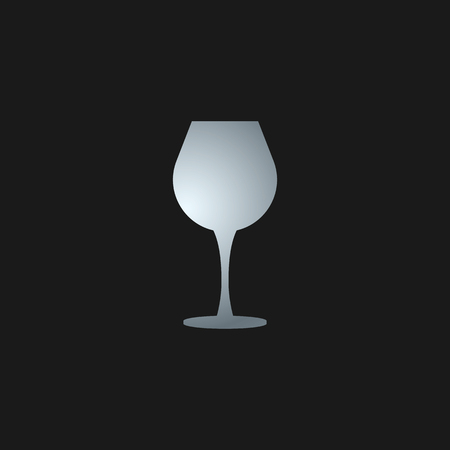 Vector wineglass icon design illustration isolated background.