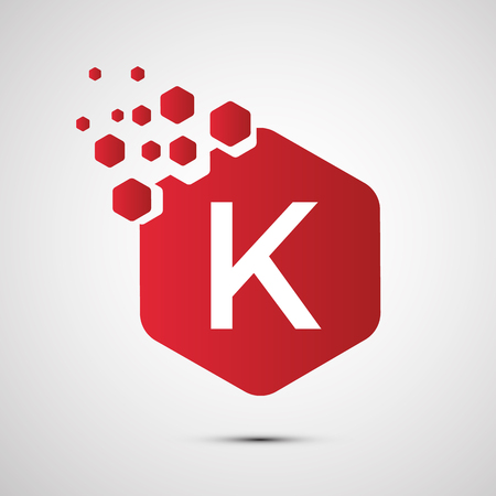 Vector icon for branding and identity illustration.  Letter K icon template vector illustration design. Vettoriali