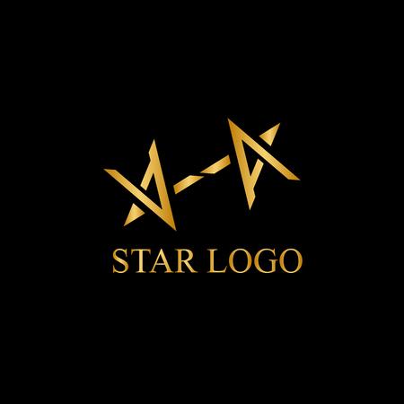 Vector stars icon element for branding illustration.