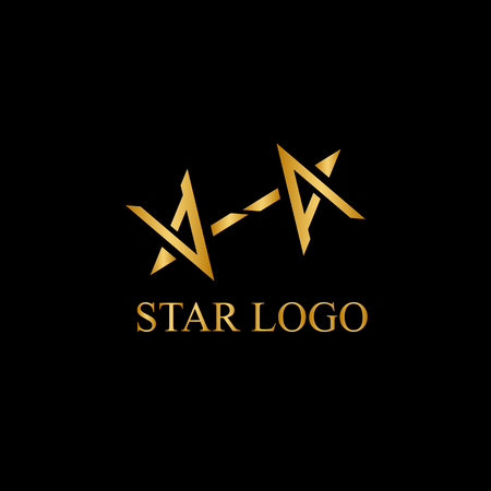 Vector stars icon element for branding illustration.