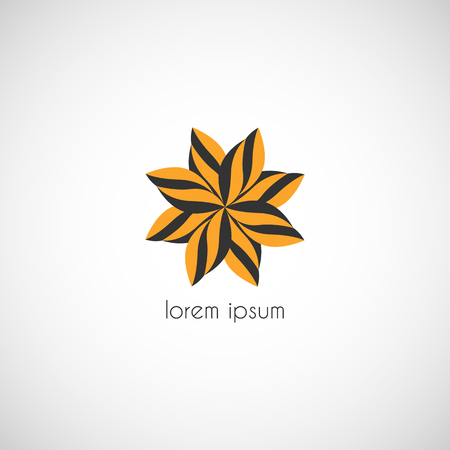 Vector star icon element for branding illustration.