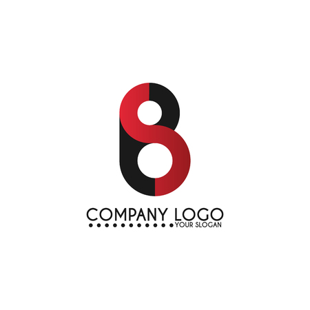 Vector icon for branding and identity illustration. Letter BS icon template vector illustration design.