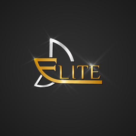 Vector elite icon element for branding illustration.