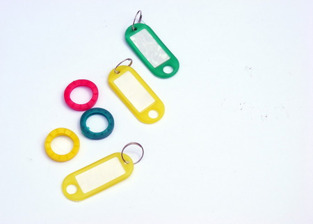 Key ring plastic isolated object