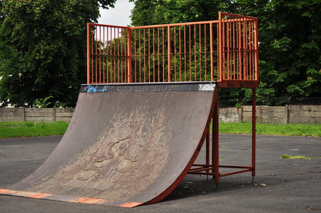 on ramp: Jumping ramp on the public park