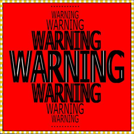 Warning words pattern, graphics with red background vector