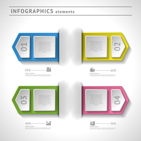 Business infographics elements. Modern design template. Abstract web or graphic layout with space for text