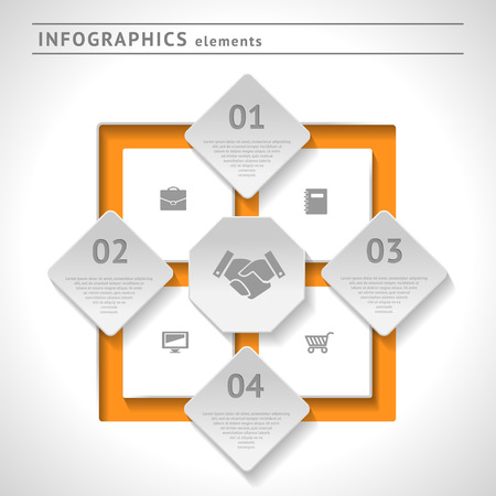 Business infographics elements. Modern design template. Web or graphic layout with space for text Vector