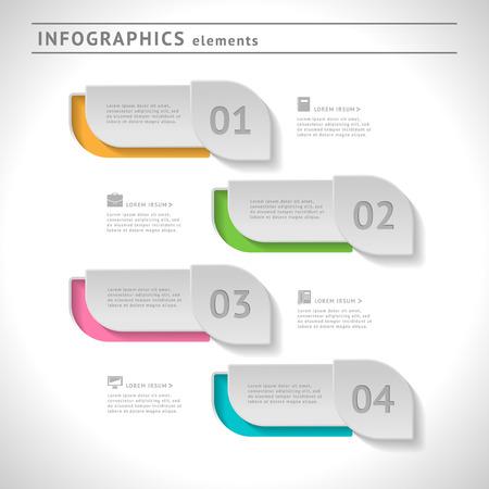 Zakelijke infographics elementen. Modern design template. Web of grafische lay-out met ruimte voor tekst