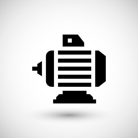 electromagnetic: Electric motor icon isolated on grey