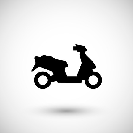 delivery icon: Modern scooter icon.
