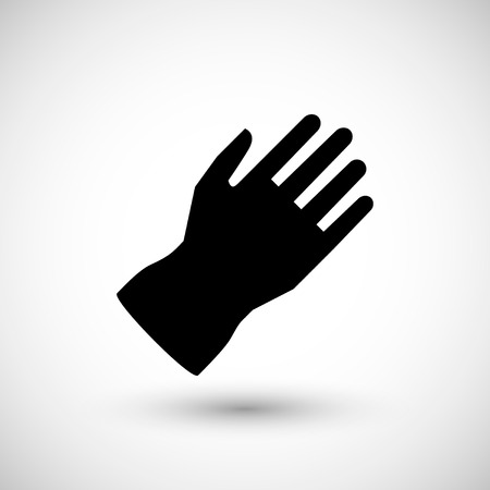 protective glove: Protective glove icon isolated on grey. Vector illustration Illustration