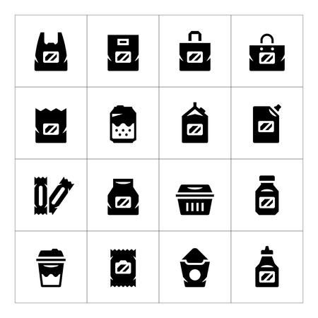 Set icônes du paquet isolé sur blanc. Vector illustration Vecteurs