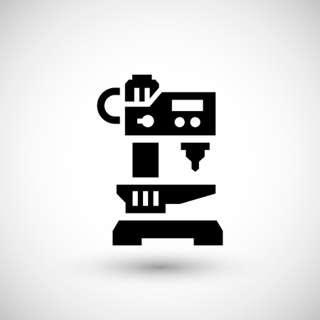 drilling machine: Drilling machine icon isolated on grey. Vector illustration Illustration
