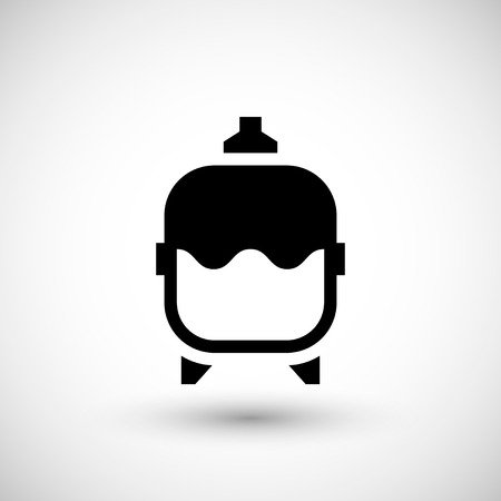 forced: Expansion tank icon isolated on grey. Vector illustration