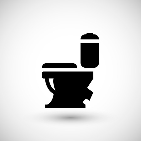 domestic room: Modern toilet icon isolated on grey. Vector illustration