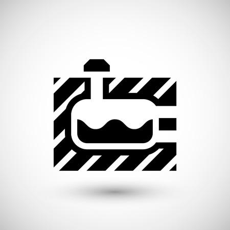 septic: Sewerage tank icon isolated on grey. Vector illustration Illustration