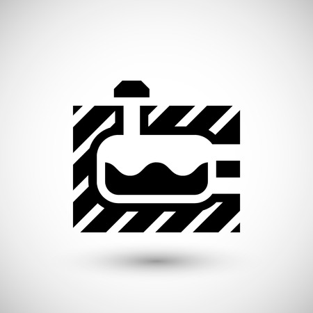Sewerage tank icon isolated on grey. Vector illustration Illustration