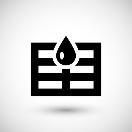 water filter: Sewerage system icon isolated on grey. Vector illustration