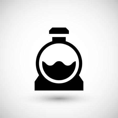 Riolering tank pictogram geïsoleerd op grijs. vector illustratie