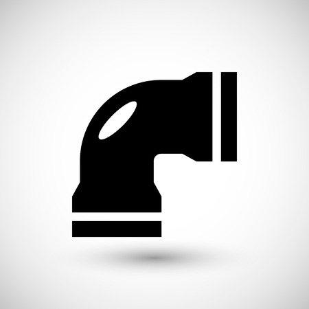 effluent: Water pipe icon isolated on grey. Vector illustration