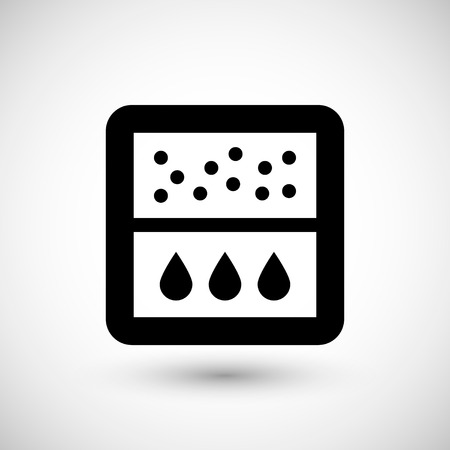 water icon: Water filter icon isolated on grey. Vector illustration Illustration
