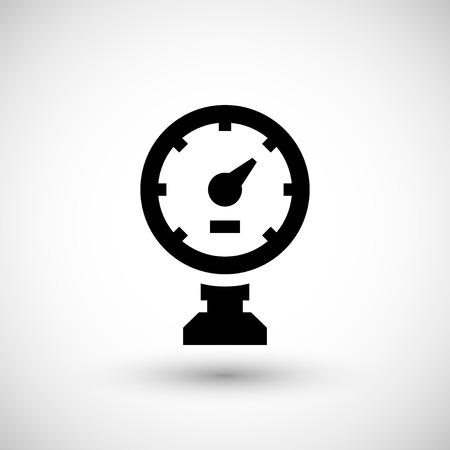 icono de manómetro aislado en gris. ilustración vectorial Ilustración de vector