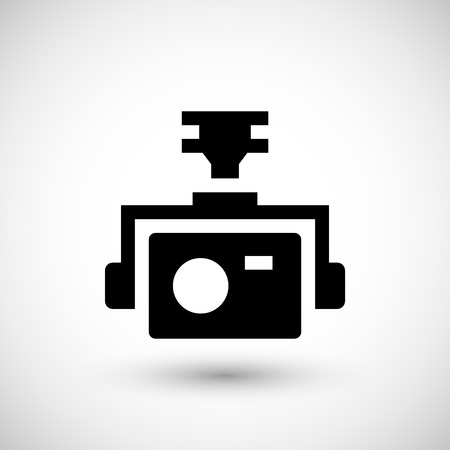 action sports: Action camera icon isolated on grey Illustration