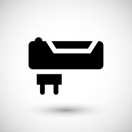 battery charger: Battery charger icon isolated on grey Illustration