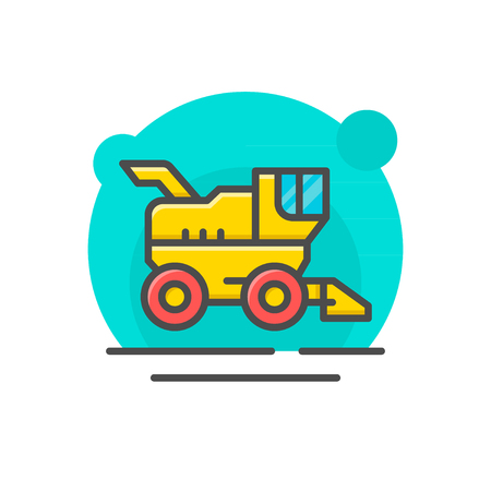 combine harvester: Combine harvester concept isolated on white. Vector illustration