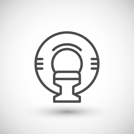 resonance: Magnetic resonance imaging line icon isolated on grey. Vector illustration
