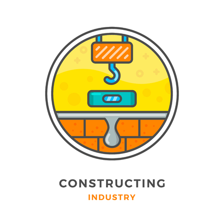 constructing: Constructing industry concept isolated on white. Vector illustration Illustration