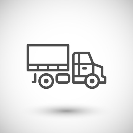 commercial sign: Van line icon isolated on grey. illustration